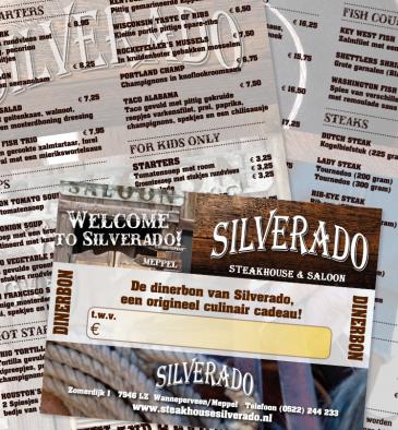 Silverado - menukaart